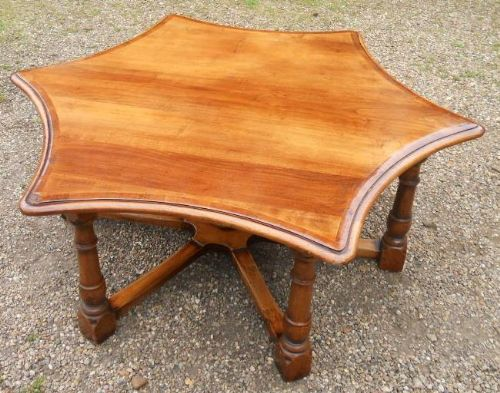 Large Star Shaped Mahogany Coffee Table